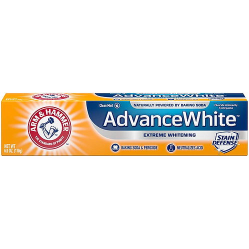 ARM & HAMMER Advanced White Extreme Whitening Toothpaste, Clean Mint (12 Pack)