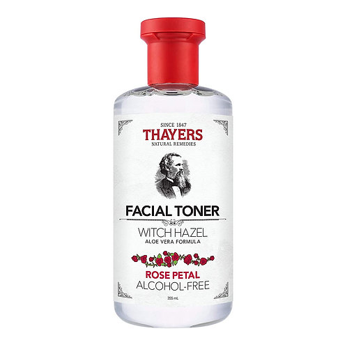 THAYERS Alcohol-Free Witch Hazel Facial Toner with Aloe Vera Formula, Rose Petal
