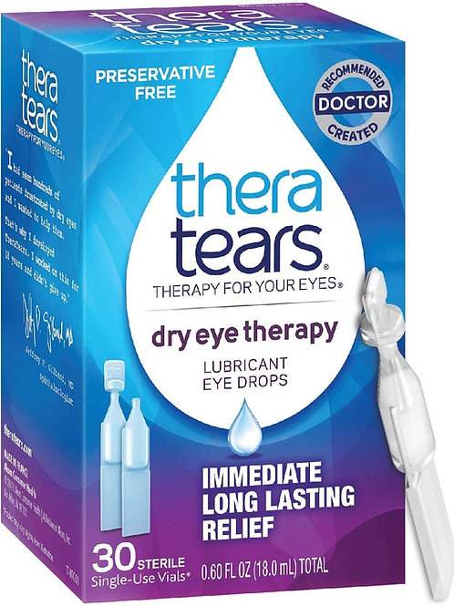 TheraTears Dry Eye Therapy Lubricant Eyedrops 30-Count Single-Use Vials