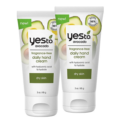 Yes To Avocado Fragrance-Free Daily Hand Cream (2 Pack)