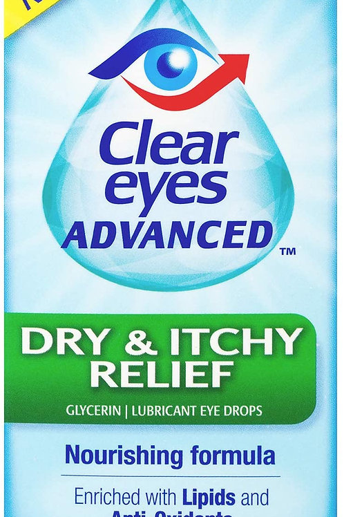 Clear Eyes Eye Drops, Advanced Dry & Itchy Eye Relief