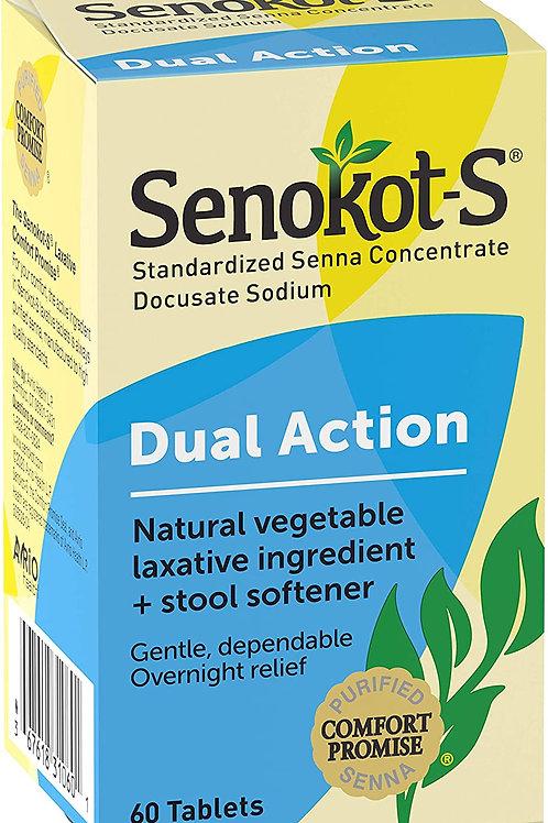 Senokot-S Dual Action Stool Softeners Tablets