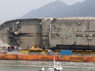 Sewol to be set upright for final search of missing victims