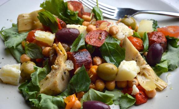 Spanish Chorizo, Manchego and Chickpea Salad