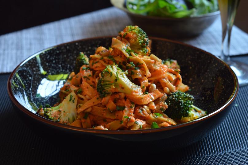 Romesco Broccoli Tagliatelle