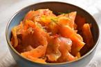 Smoked Carrot Lox, Horseradish and Watercress