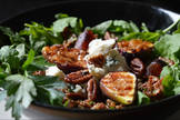 Creamy Dolcelatte, Black Rice and Pan-Fried Fig Salad