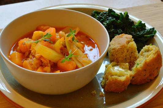 Smokey Butternut and Bean Stew