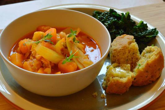 Smokey Butternut and Bean Stew