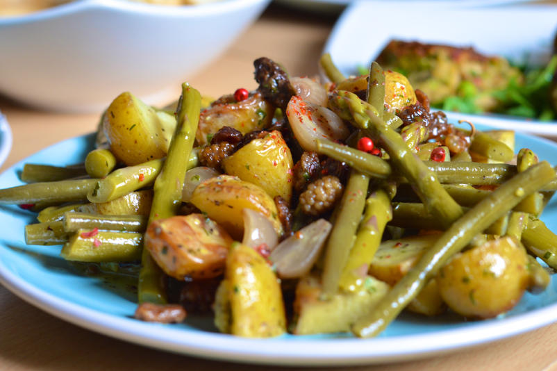 Honeyed Pickle and Mulberry Provencal Potato Salad