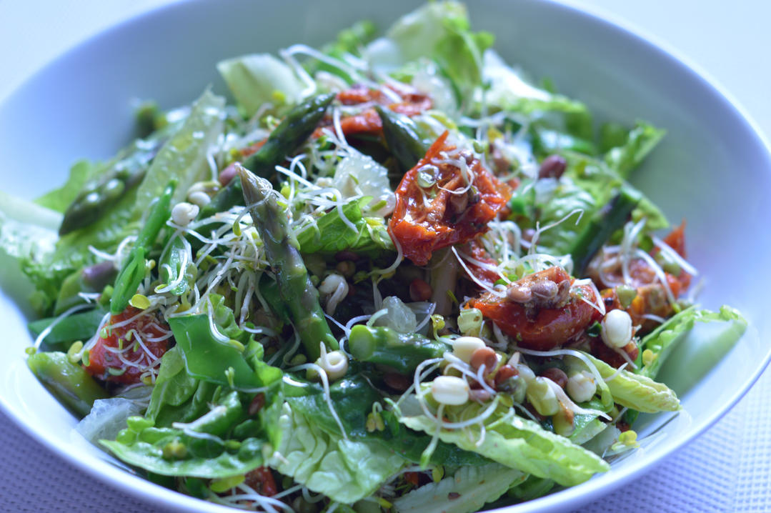 Wood Sprite Sprouting Salad with Sprightly Lemony Vinaigrette