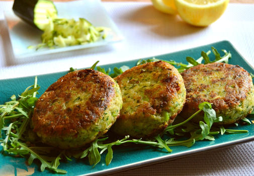 Lemony Light, Green and White, Zucchini Beany Cakes
