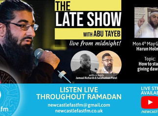 The Late Show with Abu Tayeb | Special Guest: Harun Holmes