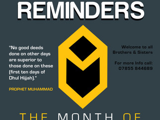 *NEW* Weekly Reminders