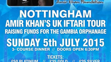 Amir Khan's UK Iftari Tour NOTTINGHAM