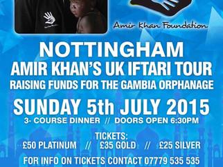 Amir Khan's UK Iftari Tour NOTTINGHAM