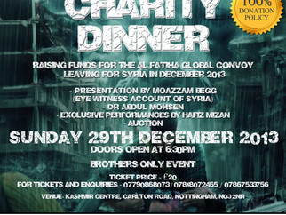 Nottingham 2 Syria - Charity Dinner