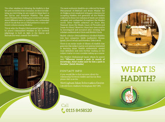 *NEW* Da'wah Pamphlet | What Is Hadith?