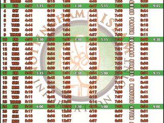Salah Timetable - September 2021