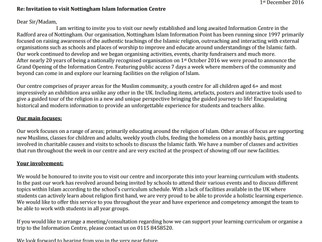 Invitation School Letter