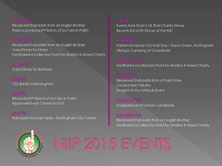 NIIP Events 2015