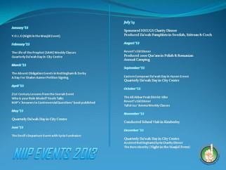 NIIP Events 2013