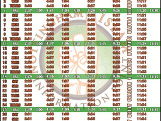 Salah Timetable - June 2021