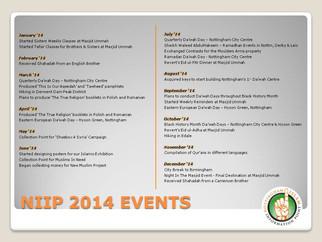 NIIP Events 2014
