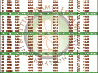 Salah Timetable - May 2021