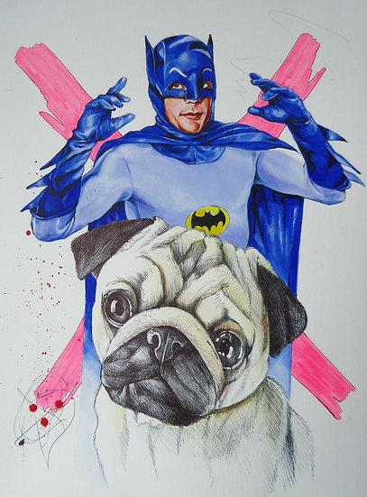 """""""Batpug"""" By Craig Knight"""