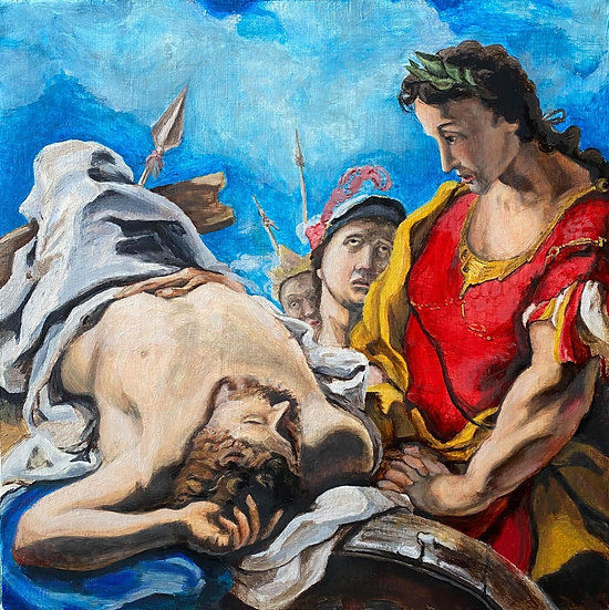 """Alexander at the Corpse of the Dead Darius "" By Nathaniel Newell"