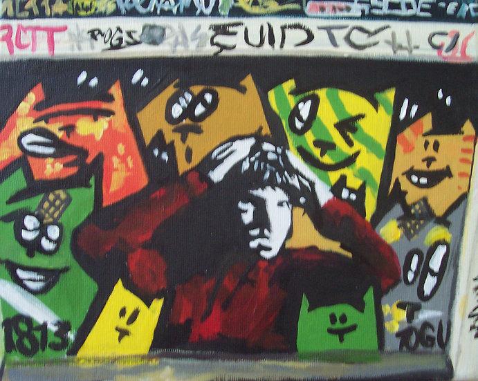 """Graffiti Op Jonge Rolensteeg 3"" By Angela Thouless"