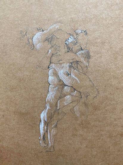 """Hercules and Antaeus"" By Nathaniel Newell"