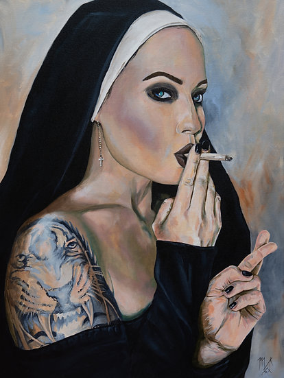 """Wicked Nun#3"" By Mark Fox"