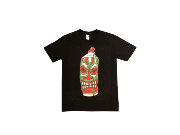 """""""Red and Green Tiki Spray Can"""" - TRIBE ALL CLOTHING"""