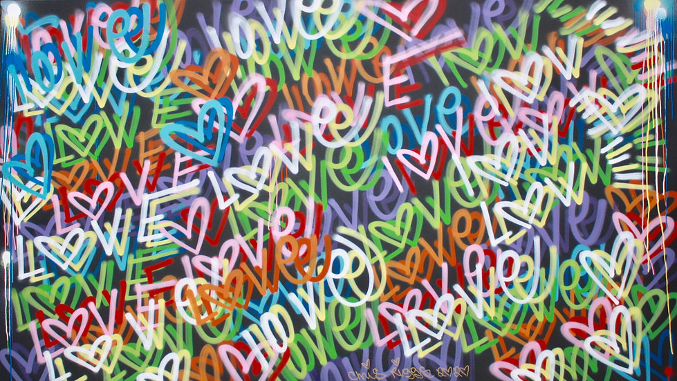 """""""Love"""" By CHRIS RIGGS - """"8ft x 5ft"""""""