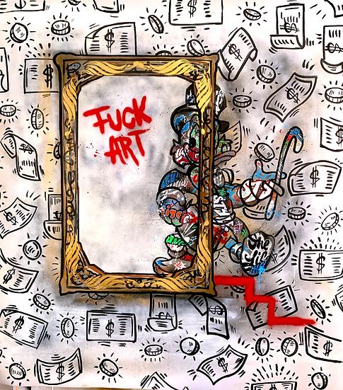 """Fuck Art"" By SAGA MOABIT"