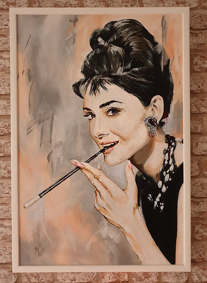 """""""Icon series - Audrey"""" By Mark Fox"""