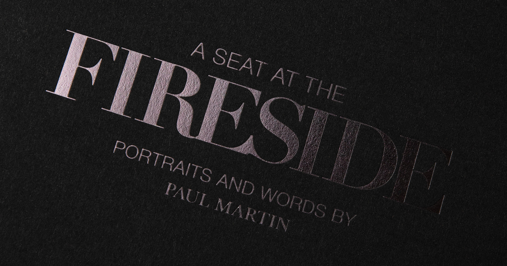 Homeless book. A seat at The Fireside