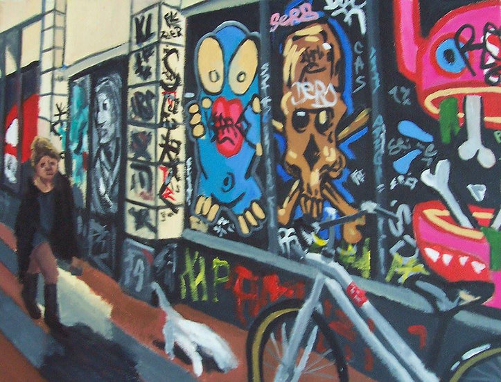 "Graffiti Op Jonge Rolensteeg"" By Angela Thouless"
