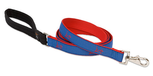 Lupine Pet Club Newport Blue Padded Handle Leash (6 Foot)