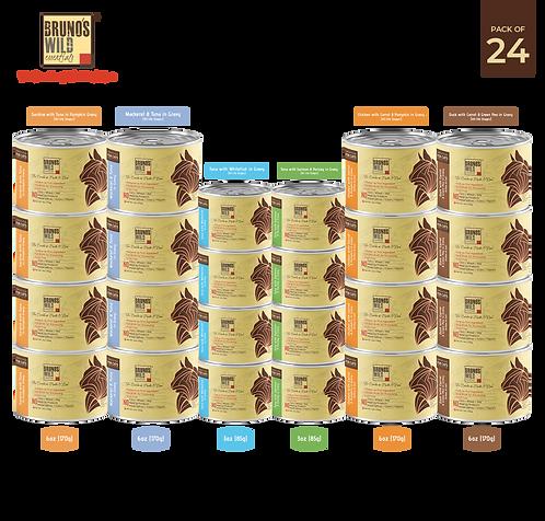 Brunos Wild Essentials - Cat Wet Food Pack of 24 (Grain Free)