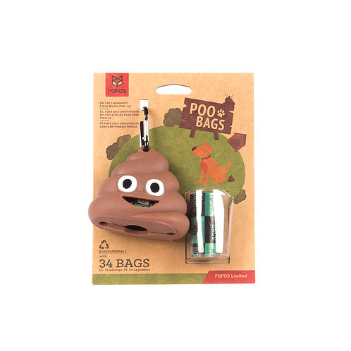 FOFOS Poop Bag Sets (34 bags with one dispenser)