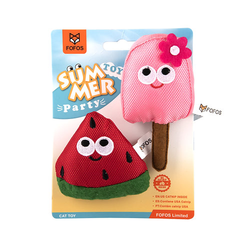 Summer Cat Toy  - Watermelon with Popsicle