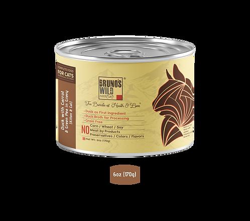 Brunos Wild Essentials - Duck with Carrot & Green Pea In Gravy 170G(Grain Free)