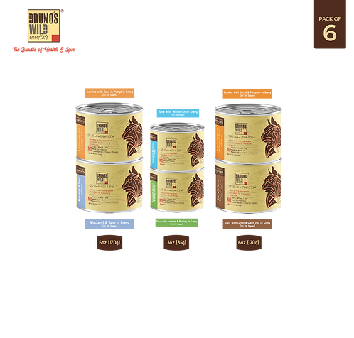 Brunos Wild Essentials - Cat Wet Food Pack of 6 (Grain Free)