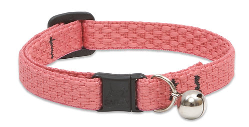 "LupinePet 1/2"" Eco Coral Breakaway Cat Collar with bell, 8-12"""