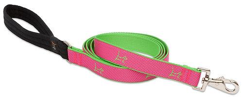 Lupine Pet Club Bermuda Pink Padded Handle Leash (6 Foot)