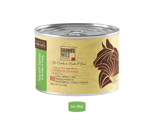 Brunos Wild Essentials - Tuna with Salmon & Parsley In Gravy 85G (Grain Free)