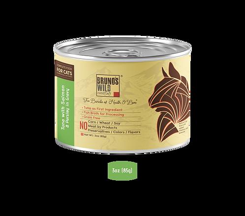 Brunos Wild Essentials - Tuna with Salmon & Parsley In Gravy 85G (Grain Free)